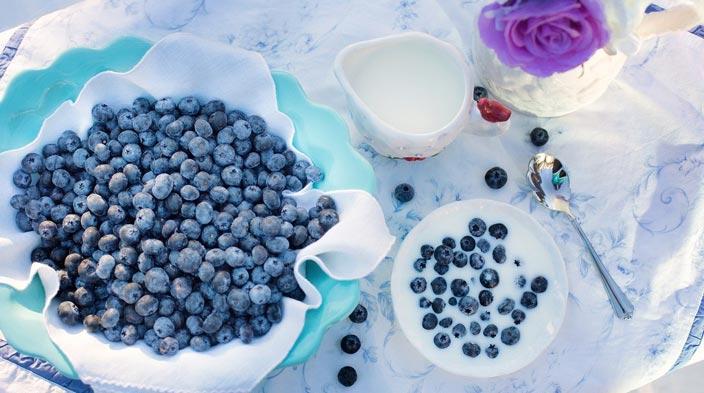 pequeno-almoço saudável de frutas
